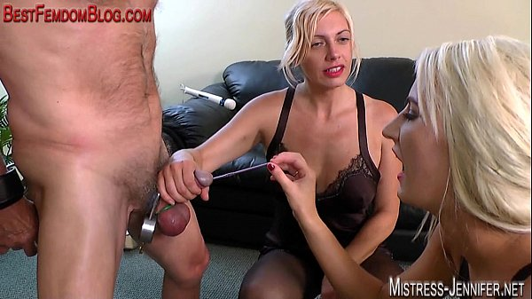 Two femdom Mistresses ruin a cock Thumb