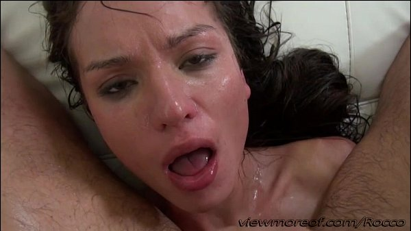 Russian babe Nataly gets pussy destroyed by Rocco with a huge prick
