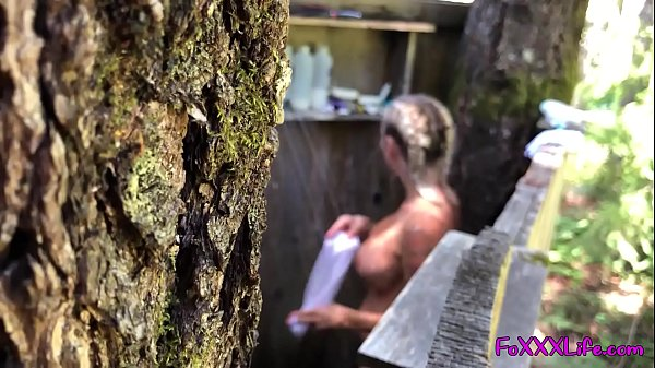 Hot outdoor shower in the woods - TheFoxxxLife - Thumb