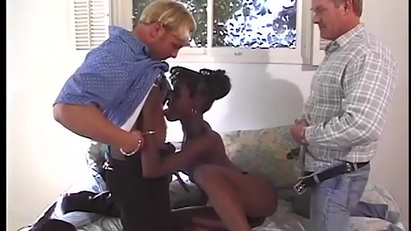 A threesome is also a fetish, here comes a difference in the skin color to .. so that one sees what belongs to whom .... Cool girl