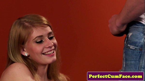 Redhead Model Takes Facial