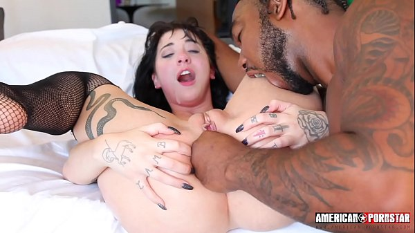 Goth Charlotte Takes Two Big Black Cocks BBC Thumb