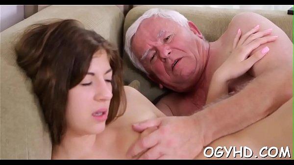 Hot juvenile babe banged by old guy Thumb