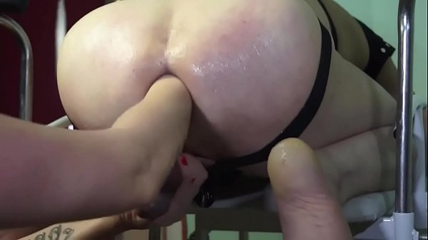 Tall Busty Russian Mistress fucking and fisting her male slave in the ass