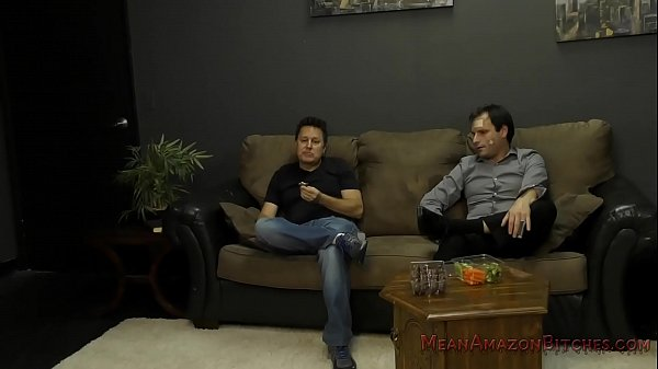 Battered Husband and His Muscle Queen Wife - Femdom