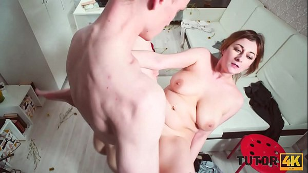 TUTOR4K. Redhead didnt even know young man just wants to penetrate her