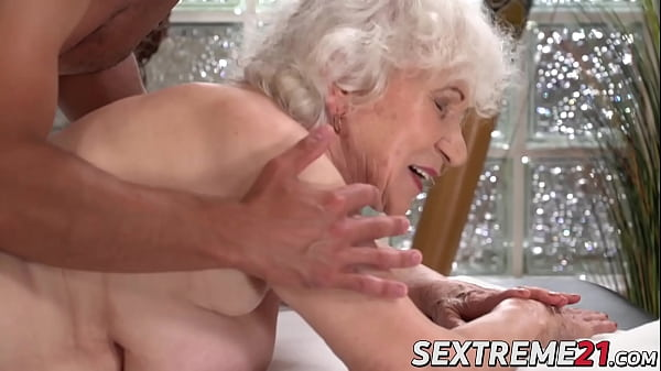 Horny granny Norma needs young hard cock on a m...