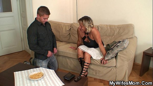 Cute girlfriends mom riding his cock
