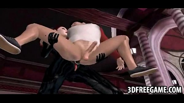 This guy gets fucked by two hot babe in 3D leather suits Thumb
