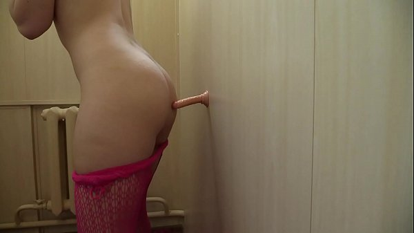 Dildo in a hairy asshole, double penetration, and anal orgasm. Amateur masturbation.