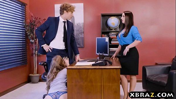 Naughty Office Threesome Fuck
