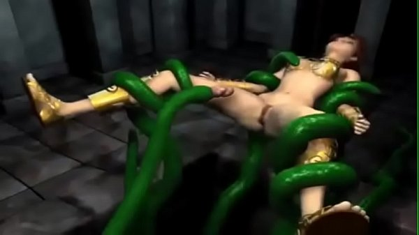3d Horny Queen fucked by tentacles and Minotaur...