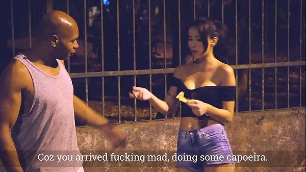 50tinha - Brazilian slut latina Angel fucks with big cock black guy for money - Teh Angel and Capoeira