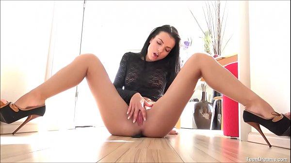 Hot Brunette Teen Sapphira Fingering Pussy