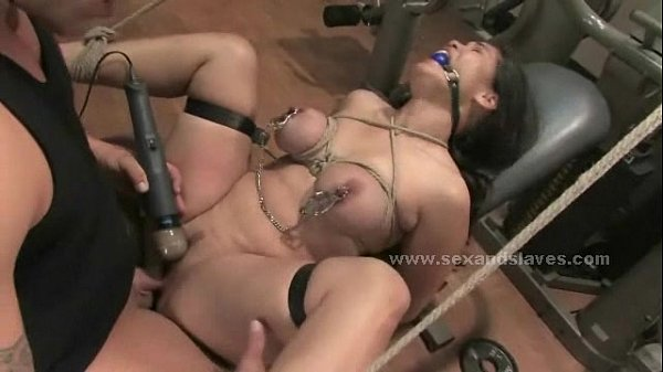 Brunette sexy busty delicious babe fucked by coach in deepthroat and rough sex