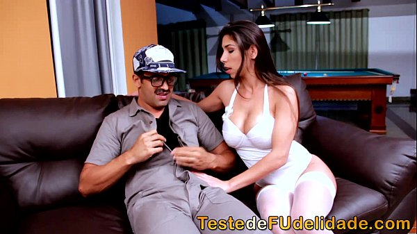 Hot Brazilian sucking and sitting on the dick