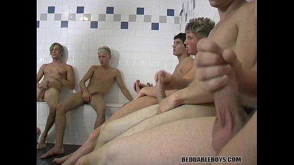 Bukkake on huge tits
