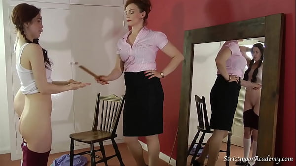 Stroke of the cane for a naughty girl