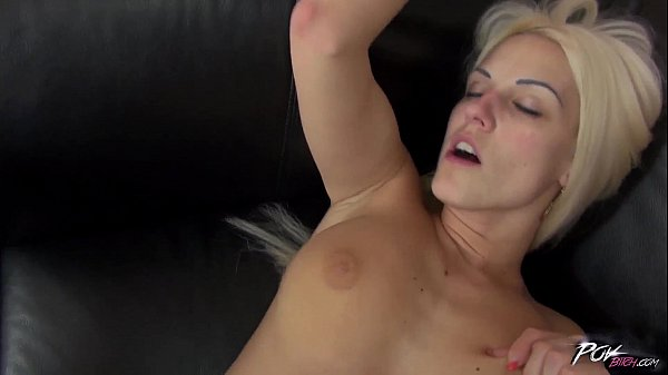 Povbitch Naughty blonde takes a big dick in her as
