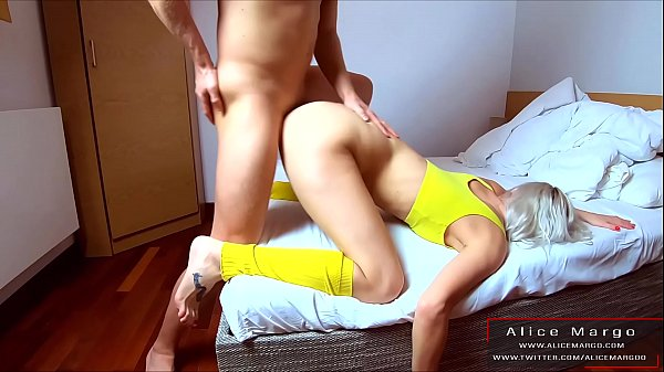 Blonde in Sexy Yellow Outfit is Hard Fucking! A...