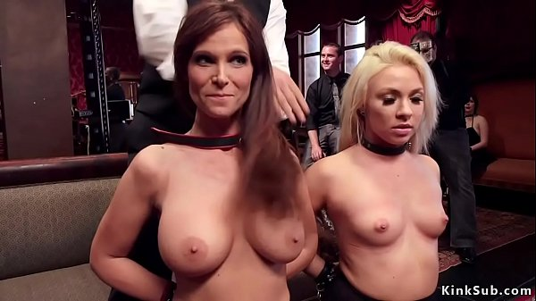 Milf and young blonde anal fuck in party