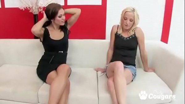 Alyssa Reece Talkes Her Friend Into Some Strapo...