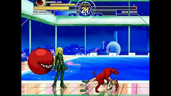 Kula Diamond & Kuromaru vs. Sailor Jupiter