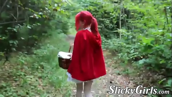 French redhead eating cum before cosplay doggystyle