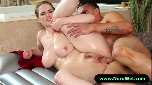 Nuru Massage Cock Rubbing Pussy and Fuck 13
