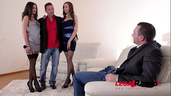 Double penetration dolls Cindy Loarn & Abril Gerald fucked by two massive cocks GP579