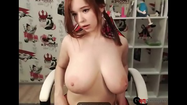 Huge Tits Camgirl Moans and Purrs on Webcam
