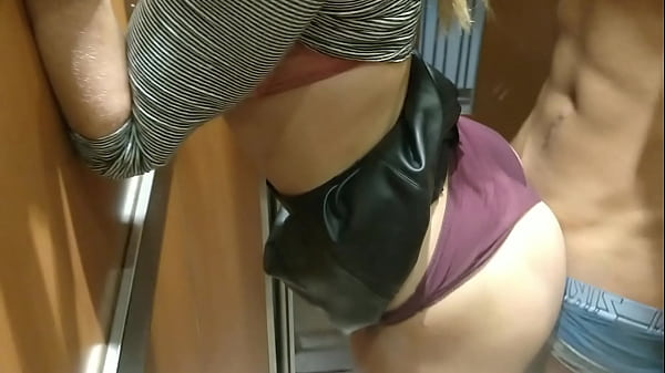 Drunk horny amateur hot interracial couple fucks in elevator