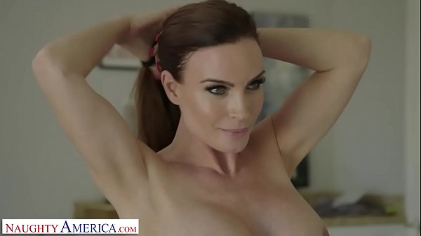 Naughty America Mrs. Culver showers with and fu...