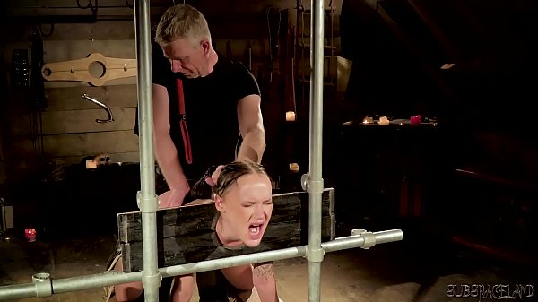 Hot bdsm sex for teen slave getting punished and fucked