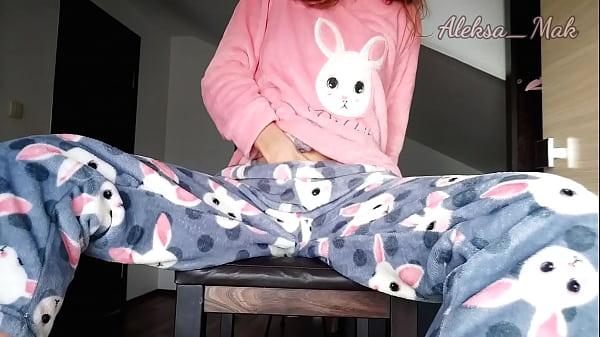 Schoolgirl in Pajamas Teases and Masturbates Pussy Thumb