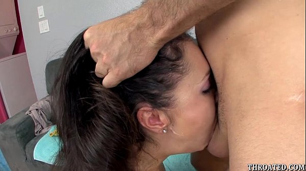 Lina Cole eagerly swallowing James Deen's cock ...