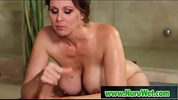 Busty masseuse fuckes her client during nuru massage - Julia Ann, Damon Dice