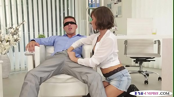 Blindfolded bisexual jock sucked before anal