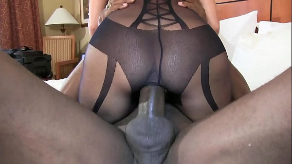 bbc stretch out pussy cowgirl style super sexy brunette wife in black lingerie Thumb