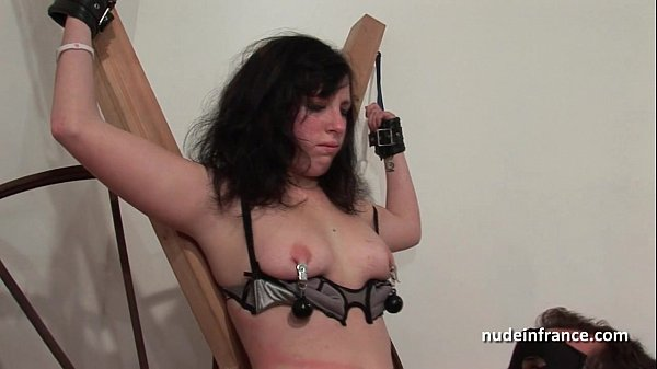Young french brunette hard sodomized fisted and corrected in bdsm game Thumb
