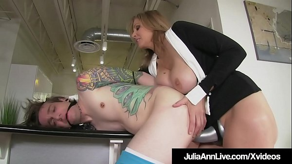 Femdom Milf Julia Ann Pegs Young Boy Toy In his tiny Asshole Thumb