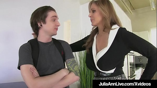 Femdom Milf Julia Ann Pegs Young Boy Toy In his tiny Asshole