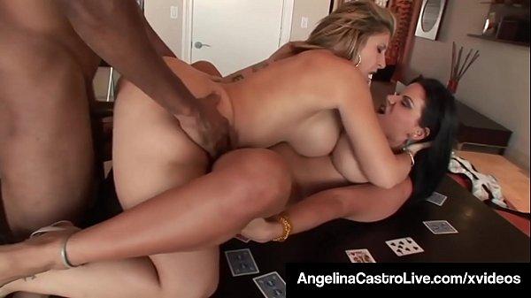 Cuban BBW Angelina Castro & PAWG Milf Sara Jay Fuck A BBC!