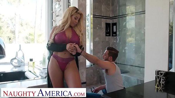 Naughty America Bridgette B. works the plumber'...