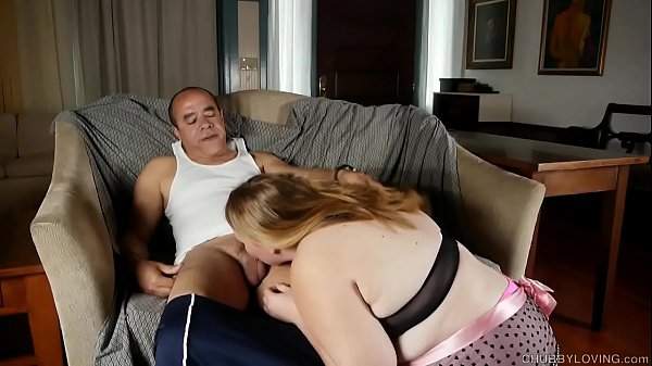 Super sexy chubby honey loves sucking cock and the taste of cum