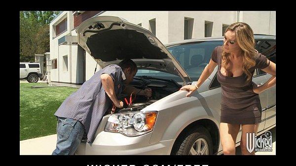 Stunning blonde British MILF Tanya Tate fucks her car mechanic