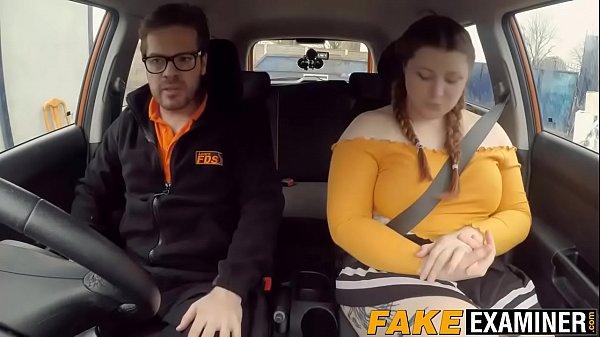 English BBW rides her driving instructors big fat cock Thumb