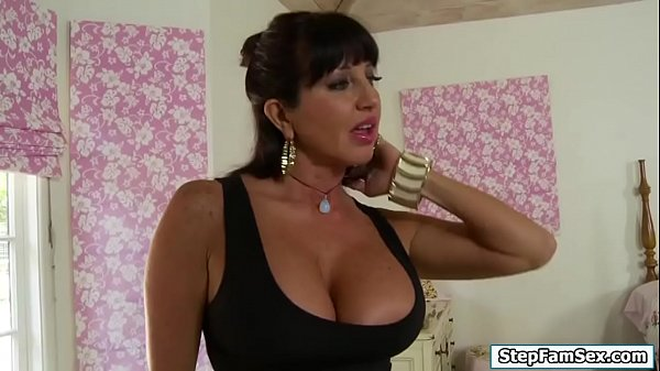 Busty stepmom flirts with her stepson