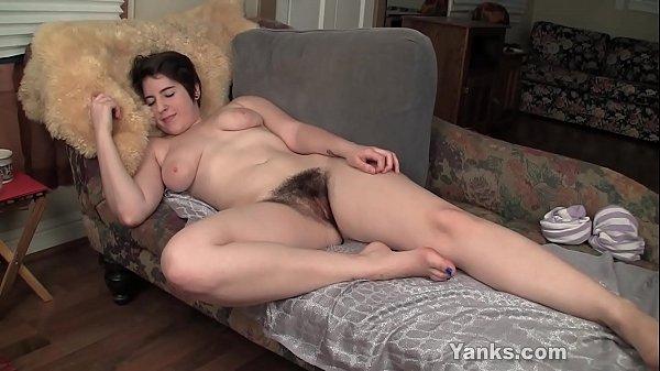 Busty Amber Fucks A Rabbit Dildo Thumb
