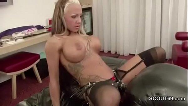 Femdom German Teen Fuck older Man and Piss on him